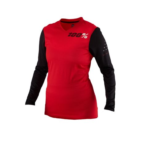 100% Ridecamp Women's Long Sleeve Jersey Red